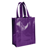 Purple Laminated Fiesta Tote Thumb