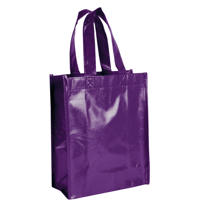 Purple Laminated Fiesta Tote