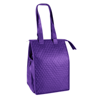 Purple Snack Pack Insulated Cooler Tote Thumb
