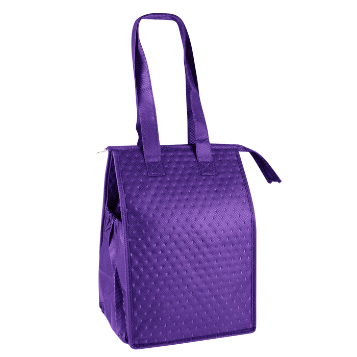Purple Snack Pack Insulated Cooler Tote