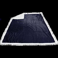 Midnight Blue Breckenridge Faux Lambswool Blanket Thumb