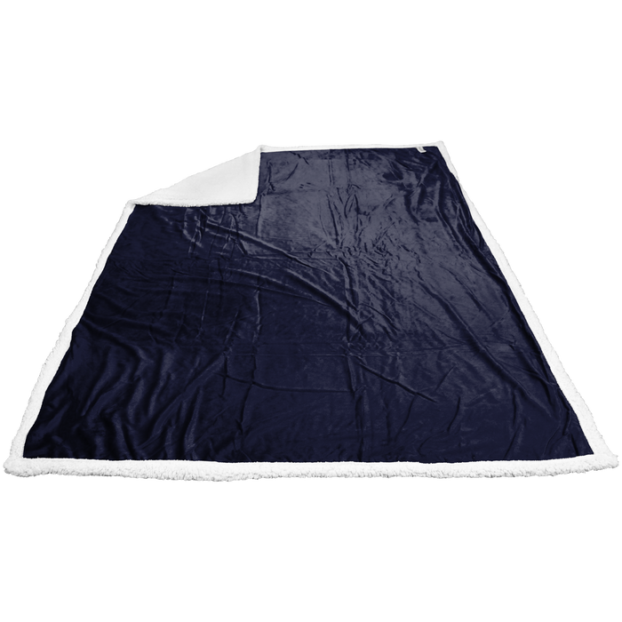 Midnight Blue Breckenridge Faux Lambswool Blanket
