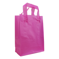 Pink Medium Frosted Plastic Shopper Thumb