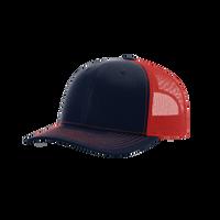 Navy/Red Richardson Trucker Snapback Hat Thumb
