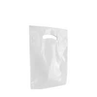 White Small Eco-Friendly Die Cut Plastic Bag Thumb