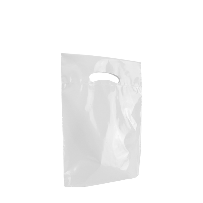 White Small Eco-Friendly Die Cut Plastic Bag
