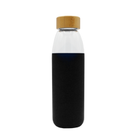 Glass Water Bottle with Bamboo Lid Thumb