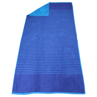 Blue Bayside Reversible Stripe Beach Towel Thumb