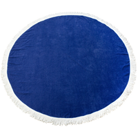 Royal Fringed Color Round Beach Towel Thumb