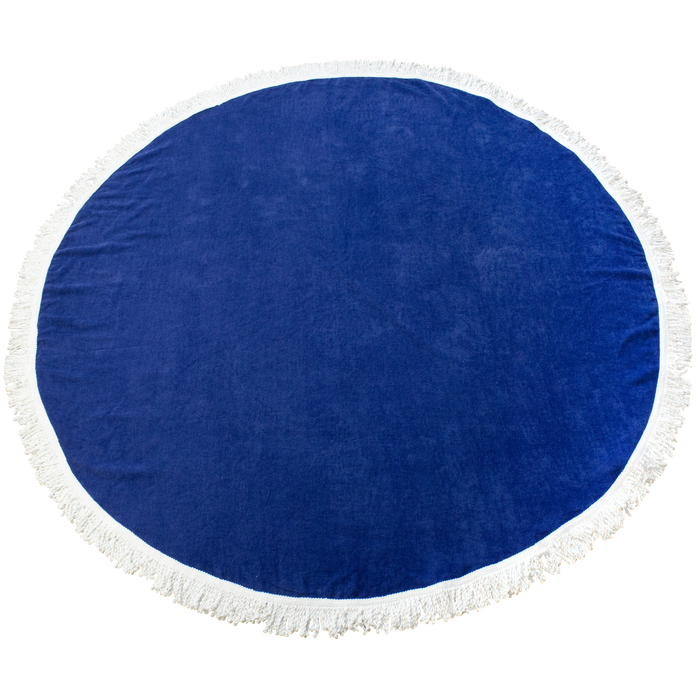 Royal Fringed Color Round Beach Towel