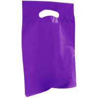 Purple Small Recyclable Die Cut Plastic Bag Thumb