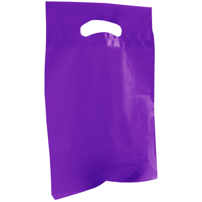 Purple Small Recyclable Die Cut Plastic Bag