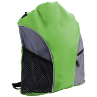Lime Green Lightweight Drawstring Backpack Thumb