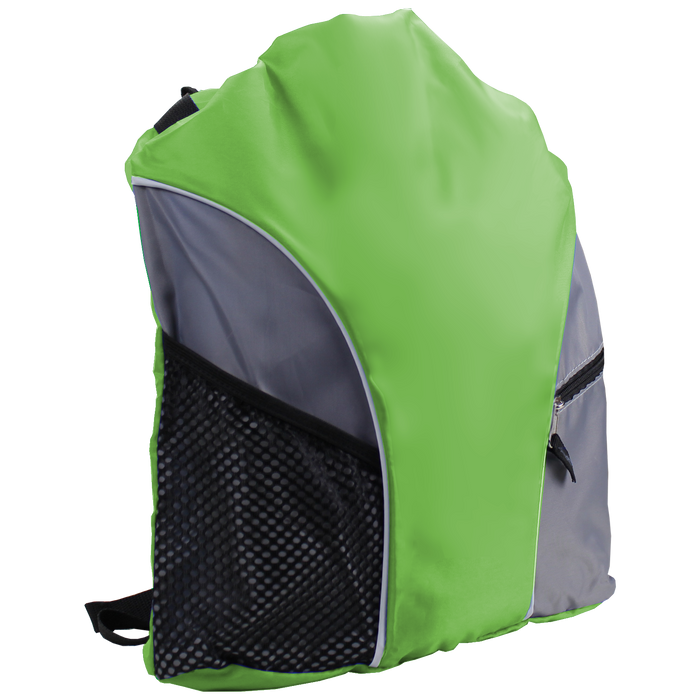Lime Green Lightweight Drawstring Backpack