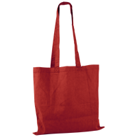 Red Basic Cotton Tote Thumb
