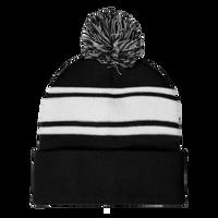 Black Striped Winter Beanie Thumb