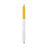 Yellow with Blue Ink Antibacterial Pen Thumb