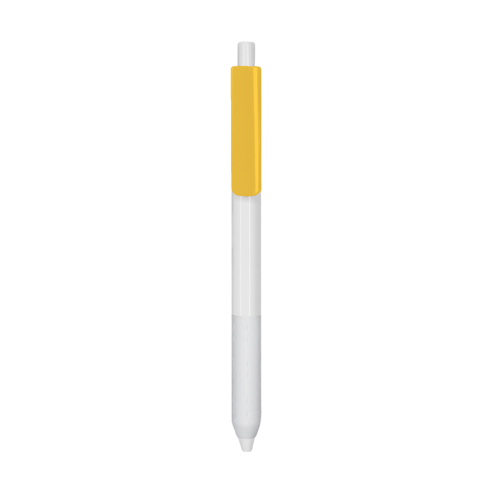 Yellow with Blue Ink Antibacterial Pen