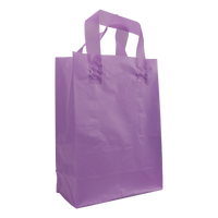 Lavender Medium Frosted Plastic Shopper Thumb