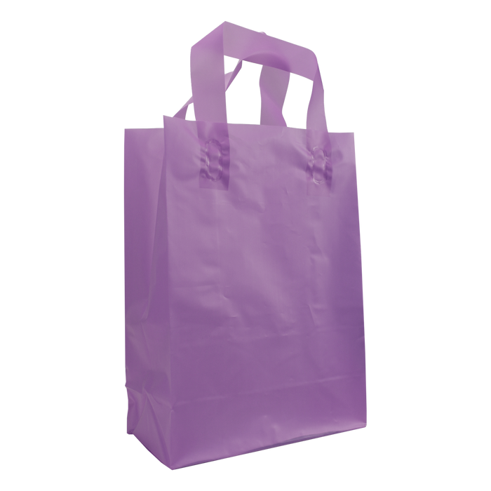 Lavender Medium Frosted Plastic Shopper