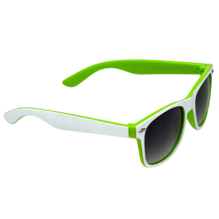 White/Lime Daytona Sunglasses