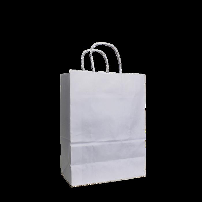 White Small White Paper Shopper Bag