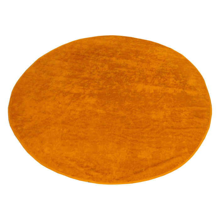 Orange Classic Color Round Beach Towel