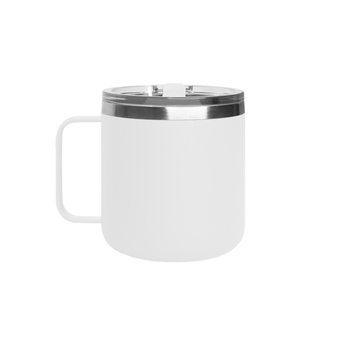 Matte White Stainless Steel Insulated Camper Mug