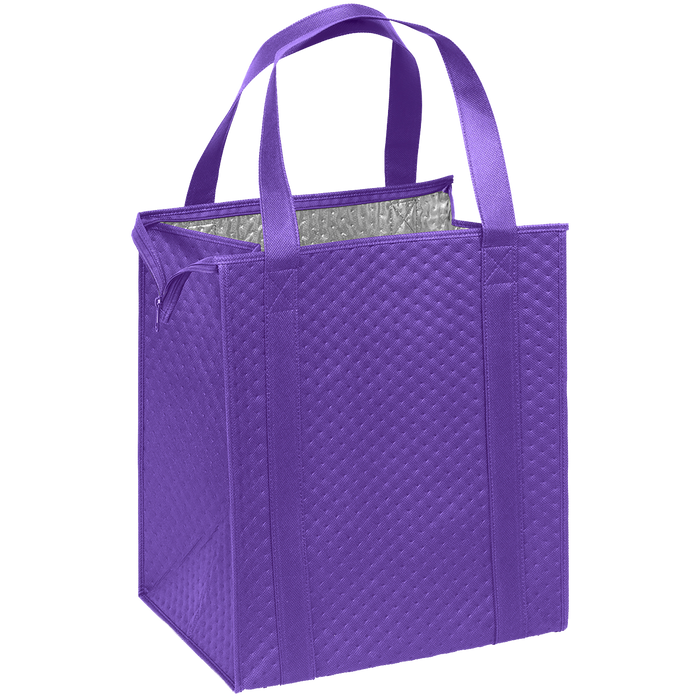 Purple Large Insulated Cooler Tote