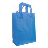 Blue Medium Frosted Plastic Shopper Thumb