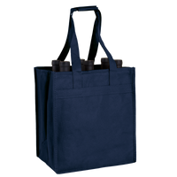Navy Blue 6 Bottle Wine Tote Thumb