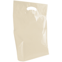 Ivory Medium Die Cut Plastic Bag Thumb