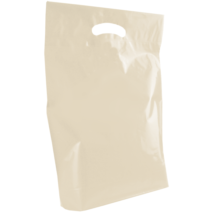 Ivory Medium Die Cut Plastic Bag
