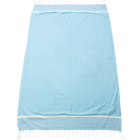 Turquoise Shoreline Fringed Beach Towel Thumb
