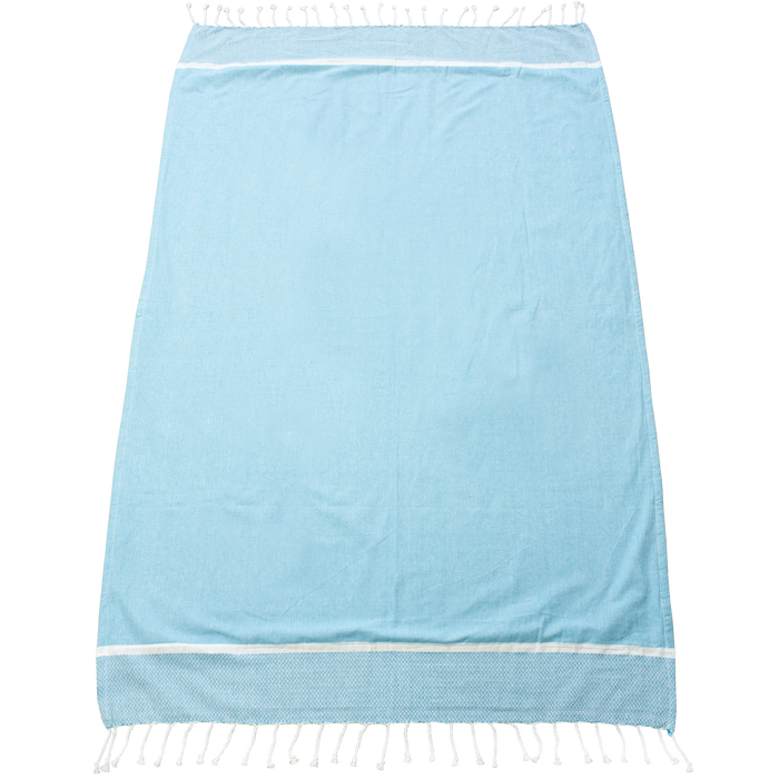 Turquoise Shoreline Fringed Beach Towel