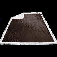 Dark Chocolate Breckenridge Faux Lambswool Blanket Thumb