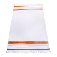 Orange Windsor Fringed Beach Towel Thumb