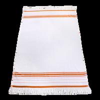 Orange Windsor Fringed Beach Towel Thumb