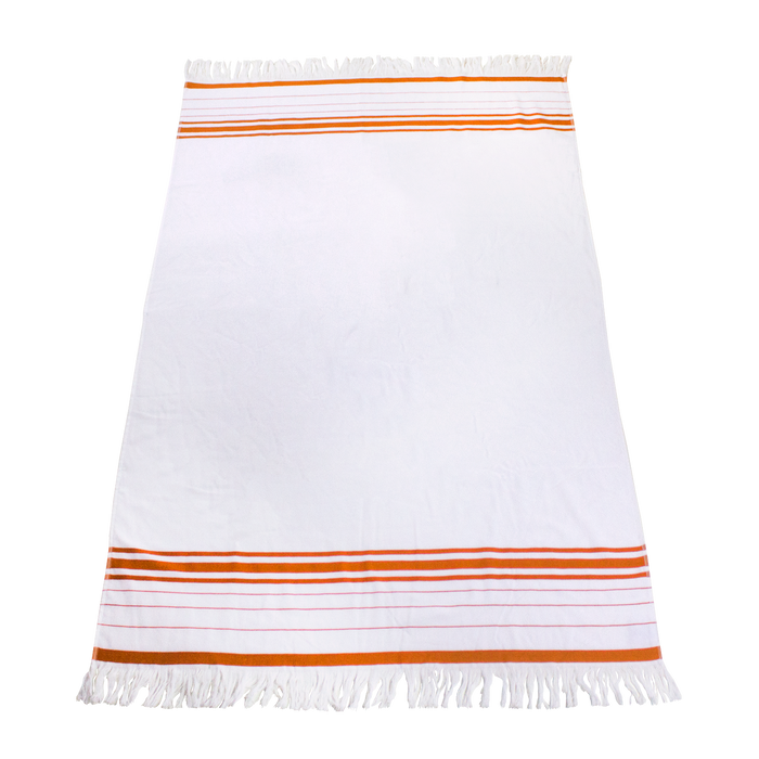 Orange Windsor Fringed Beach Towel
