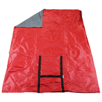 Red Portable Picnic Fleece Blanket Thumb