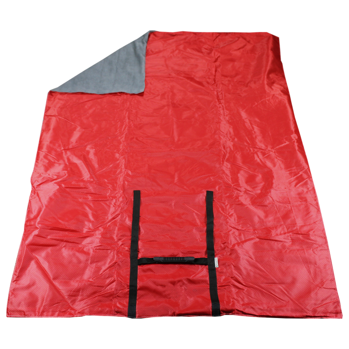 Red Portable Picnic Fleece Blanket