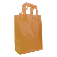 Tangerine Medium Frosted Plastic Shopper Thumb