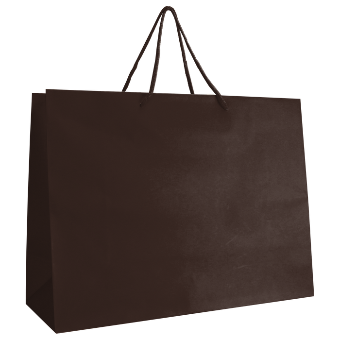 Chocolate Large Matte Shopper Bag