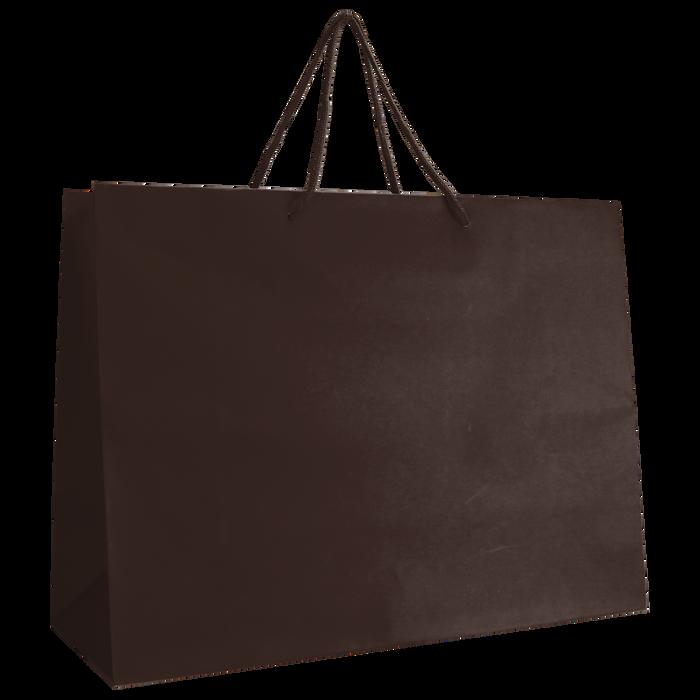 Chocolate Large Matte Shopper Bag