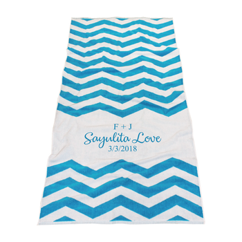 Horizon Chevron Striped Beach Towel