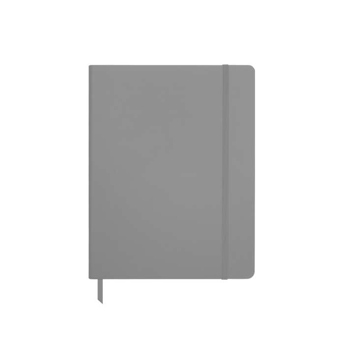 Gray Medium Soft Faux Leather Journal