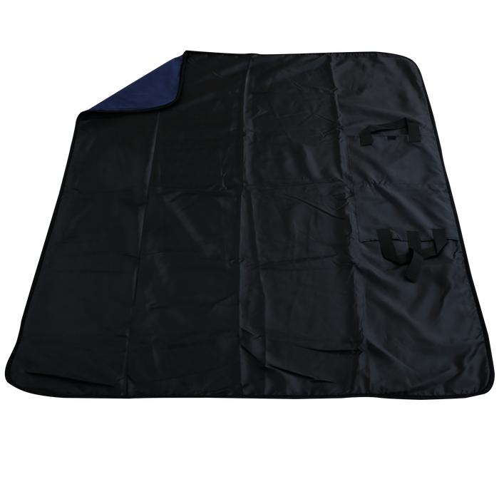 Navy Traveler Fleece Picnic Blanket