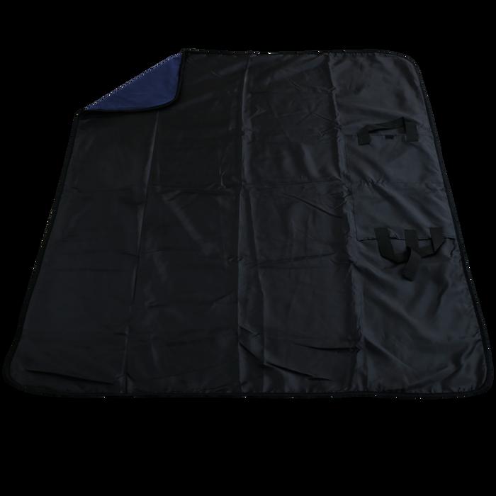 Navy Blue Traveler Fleece Picnic Blanket