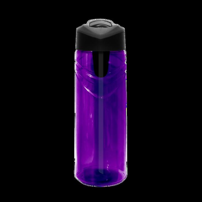 Purple Sport Water Bottle with Flip Up Straw