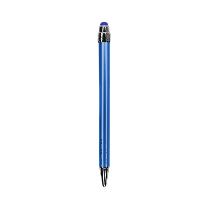 Blue with Blue Ink Chrome Stylus Pen